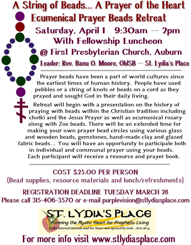 Prayer bead retreat april 2017 high def